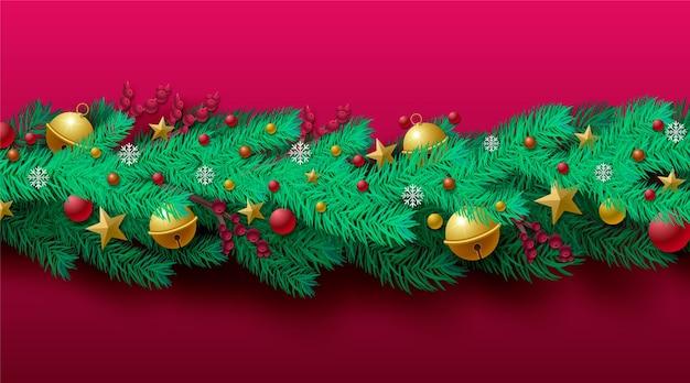 Fondo navidad oropel realista