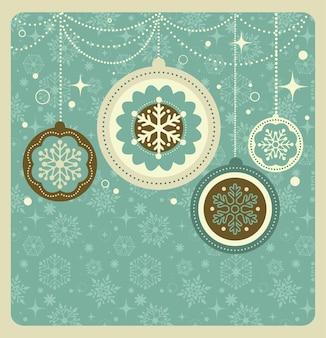 Fondo de navidad con patrón retro,
