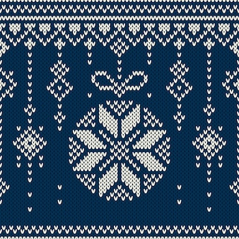 Fondo de navidad. patten de vacaciones sin costuras en la textura de punto de lana