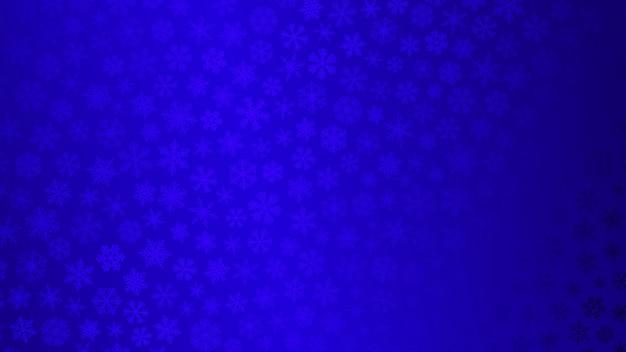 Fondo de navidad de pequeños copos de nieve en colores azules