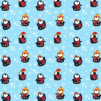 Fondo de navidad pingüino