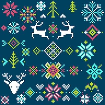 Fondo navidad pixel