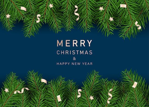 Fondo de navidad. ramas de los árboles de navidad.