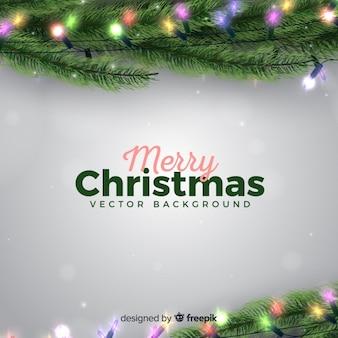 Fondo de navidad realista