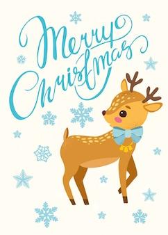 Fondo de navidad con reno bonito