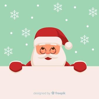 Fondo navidad santa asomándose