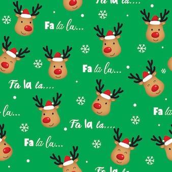 Fondo de navidad transparente con cabeza de reno