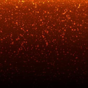 Fondo de la navidad del vector con las estrellas el caer del oro.