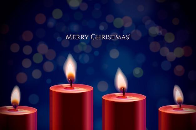 Fondo de navidad con vela