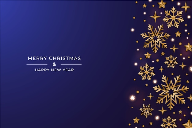 Fondo navideño con decoración realista