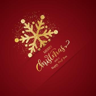 Fondo navideño con diseño de copo de nieve brillante