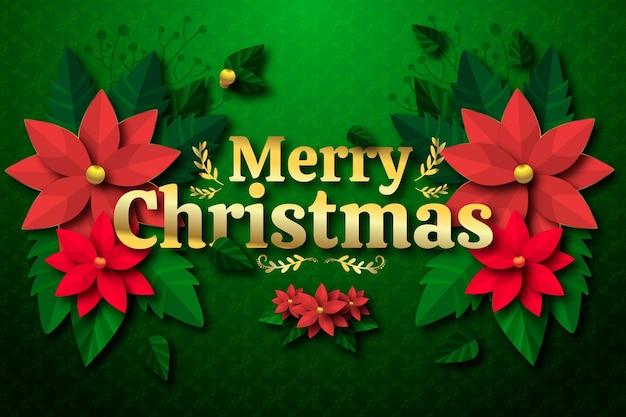 Fondo navideño en estilo papel