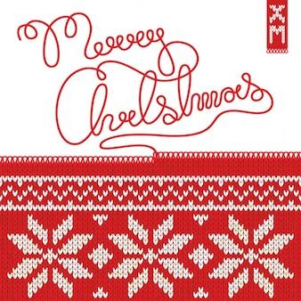 Fondo navideño con textura de tejido