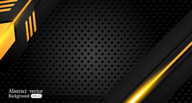 Fondo de negocio abstracto amarillo y negro naranja