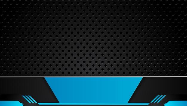 Fondo de negocio abstracto azul y negro