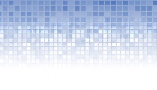Fondo de negocio abstracto estilo mosaico azul