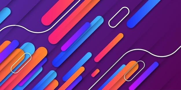 Fondo de negocio abstracto moderno con coloridas formas degradadas