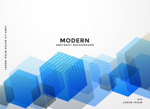 Fondo de negocio hexagonal azul resumen