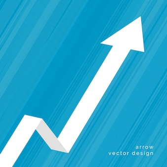 Fondo de negocios de flecha ascendente en movimiento