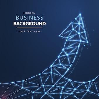 Fondo de negocios moderno con flecha de luz
