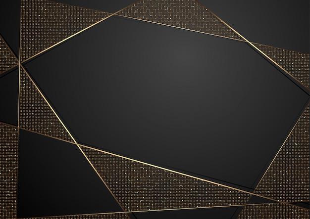 Fondo negro abstracto de lujo