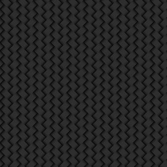 Fondo negro abstracto mimbre textura de patrones sin fisuras