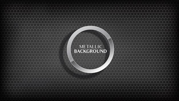 Fondo negro abstracto del panal metálico.