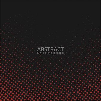 Fondo negro abstracto con puntos rojos