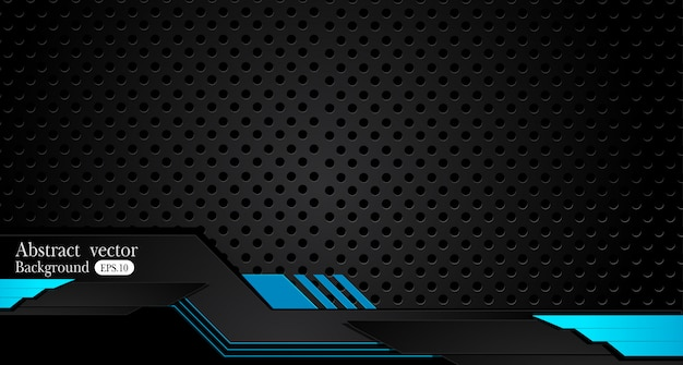 Fondo negro azul metálico abstracto de la disposición del concepto de la innovación del diseño del marco