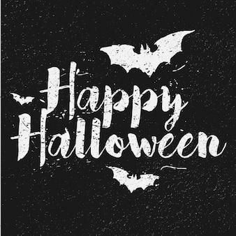 Fondo negro con murciélagos para halloween