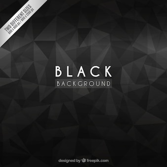 Fondo negro con polígonos abstractos
