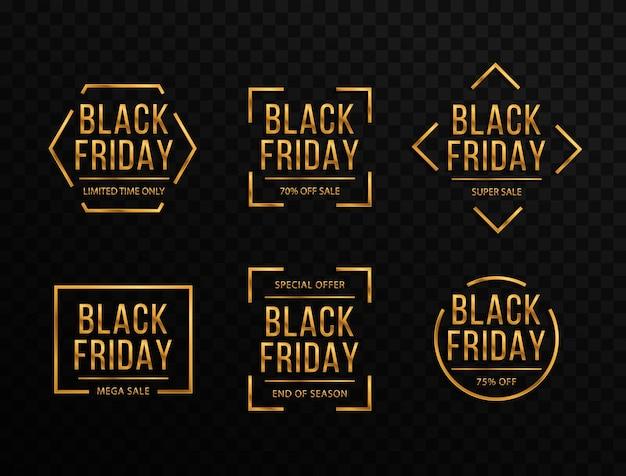 Fondo negro con confeti dorado para viernes negro y grandes rebajas