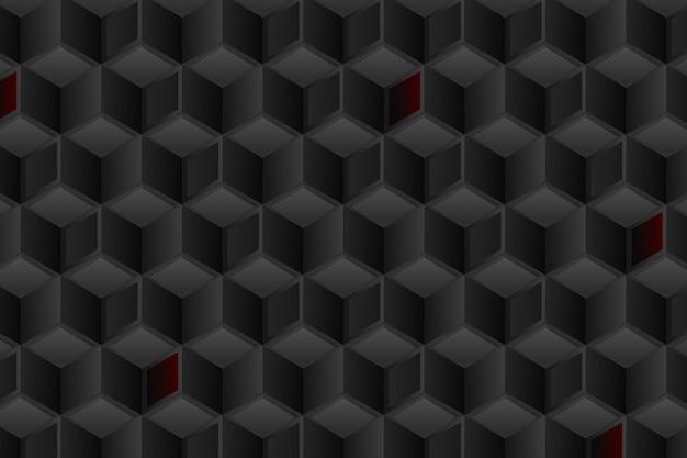 Fondo negro degradado con cubos
