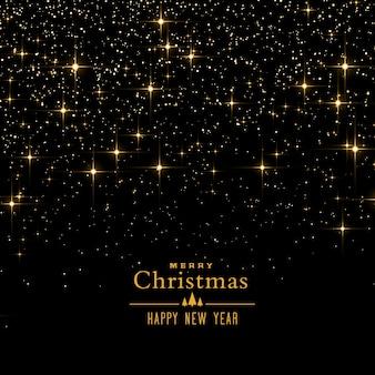 Fondo negro con destellos y brillo para el festival de navidad