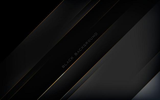 Fondo negro diagonal moderno con línea dorada