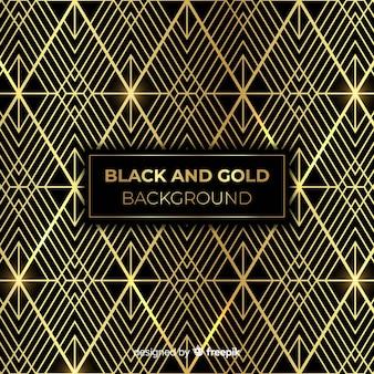 Fondo en negro y dorado