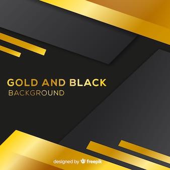 Fondo negro y dorado