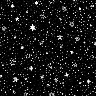 Fondo negro con estrellas