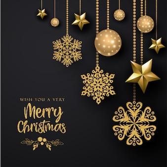 Fondo negro feliz navidad