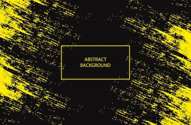 Fondo negro con grunge amarillo