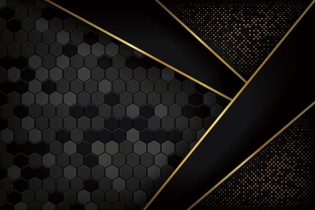 Fondo negro de lujo con estilo 3d.
