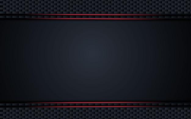 Fondo negro metálico abstracto con rayas de contraste.