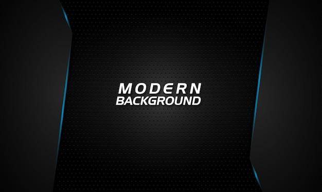 Fondo negro moderno con líneas de luz azul