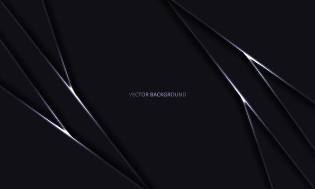 Fondo negro moderno de lujo abstracto con sombras y líneas de luz. diseño futurista de lujo moderno telón de fondo oscuro.