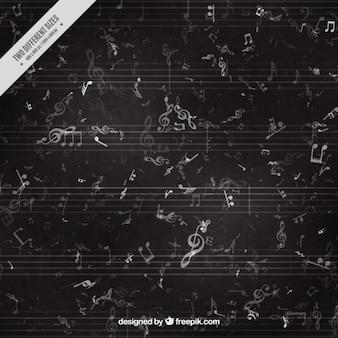 Fondo negro musical