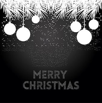 Fondo negro de navidad