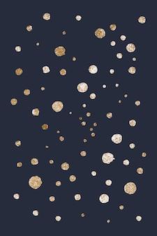 Fondo negro de puntos relucientes