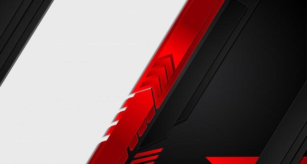 Fondo negro rojo metálico abstracto.