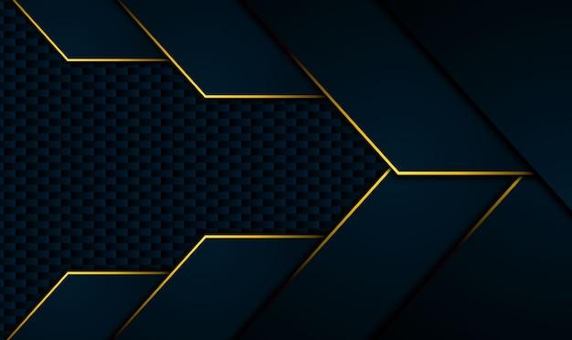 Fondo negro tecnológico con rayas de color amarillo anaranjado a contraste. diseño de folleto gráfico vectorial abstracto