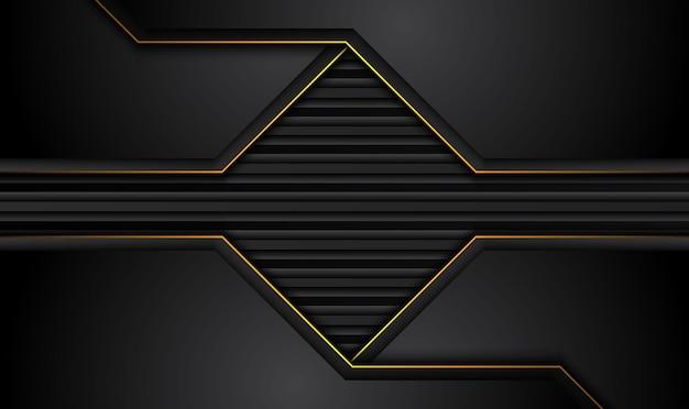 Fondo negro tecnológico con rayas de color amarillo anaranjado a contraste.